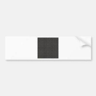 Polka Dots - Linen on Black Car Bumper Sticker