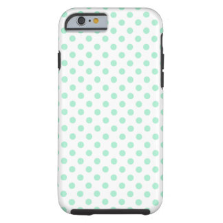 Polka Dots - Magic Mint on White iPhone 6 Case