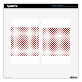 Polka Dots - Maroon on White Skins For Kindle Fire