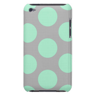 Polka Dots Mint And Gray iPod Touch Case