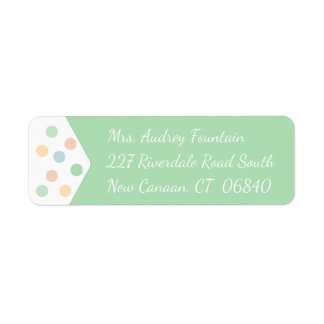 Polka Dots Mint Green And White Dots Label