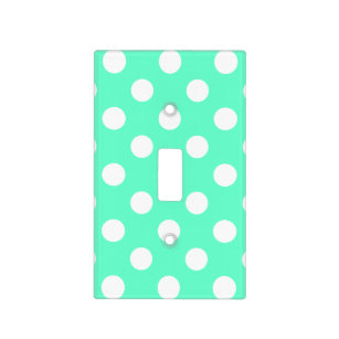 Mint Polka Dot Wall Plates Light Switch Covers Zazzle