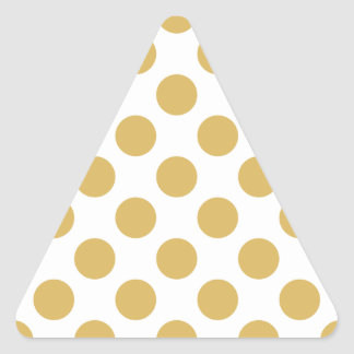 Polka Dots Misted Yellow Triangle Sticker