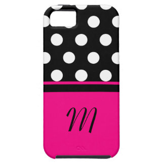 Polka Dots Monogram Case iPhone 5 Covers