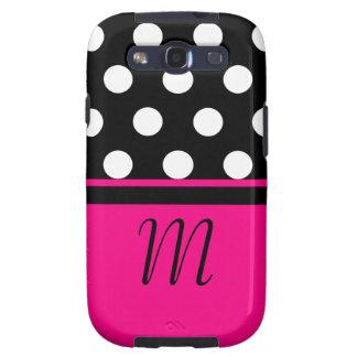 Polka Dots Monogram Case Samsung Galaxy S3 Cover