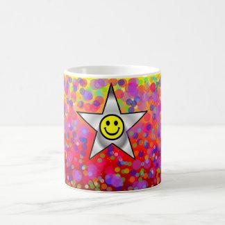 polka dots classic white coffee mug