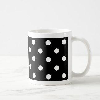 polka dots  mug in black and white