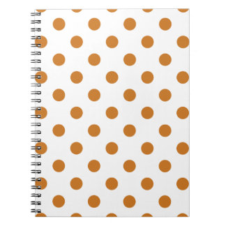Polka Dots Ochre On White Notebook