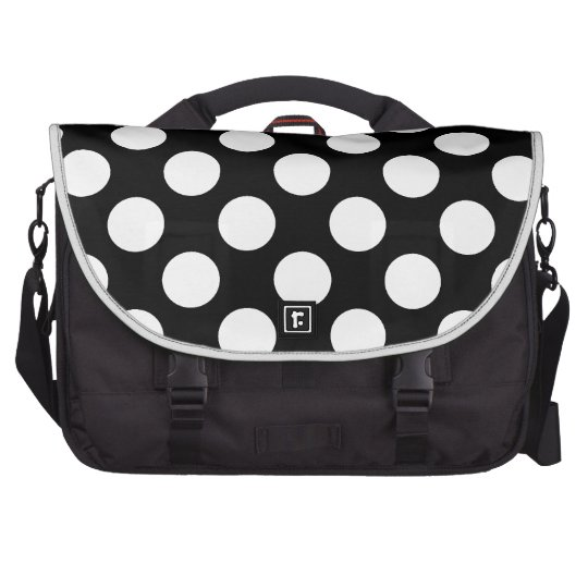 Polka Dots On A Black Background Commuter Bag