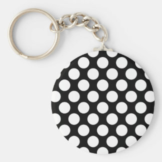 Polka Dots on Black Keychains
