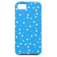 Polka Dots on Blue Background iPhone 5 Case