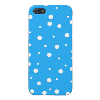 Polka Dots on Blue Background Covers For iPhone 5