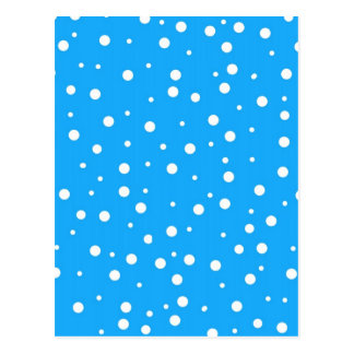 Polka Dots on Blue Background Postcard