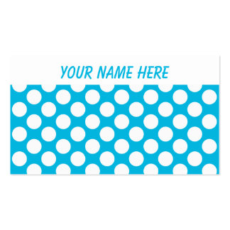 Polka Dots on Blue Business Card
