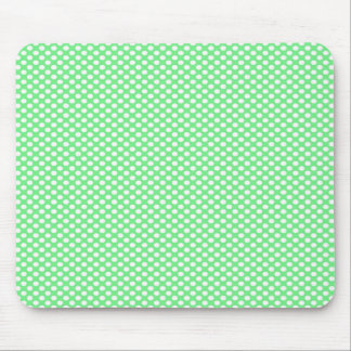 Polka Dots on Green Mouse Pad