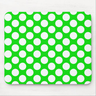 Polka Dots on Green Mouse Pads