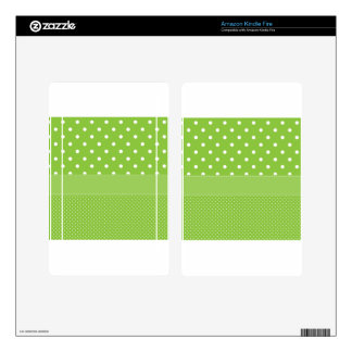 polka-dots on green skin for kindle fire