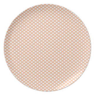 Polka Dots on Peach Party Plate