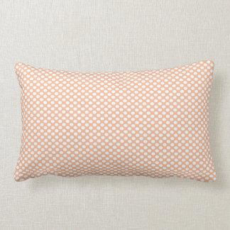 Polka Dots on Peach Throw Pillow