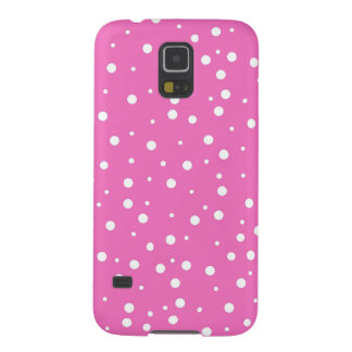 Polka Dots on Pink Background Galaxy S5 Cases