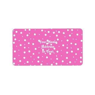 Polka Dots on Pink Background Custom Address Label
