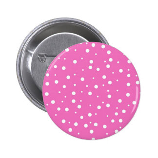 Polka Dots on Pink Background Pinback Button