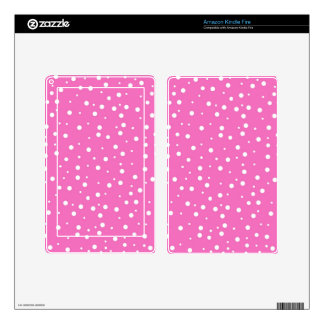 Polka Dots on Pink Background Skin For Kindle Fire