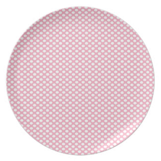 Polka Dots on Pink Dinner Plates