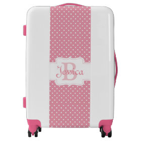 Polka Dots on Pink Luggage