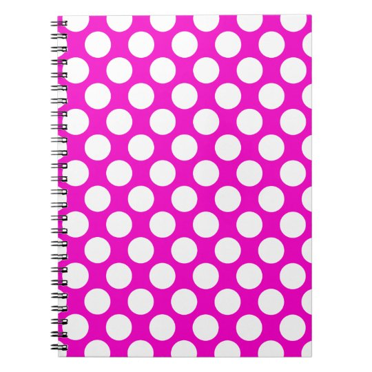 Polka Dots on Pink Notebook