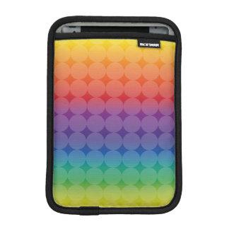 Polka Dots on Rainbow iPad Mini Sleeve