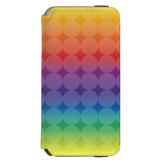 Polka Dots on Rainbow iPhone 6/6s Wallet Case