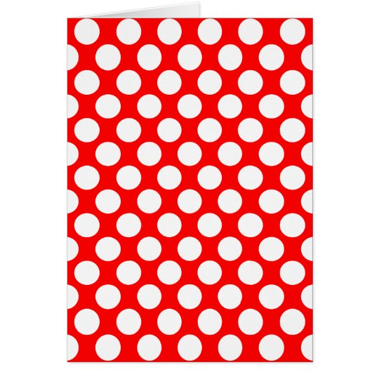 Polka Dots on Red Card