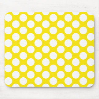 Polka Dots on Yellow Mousepads