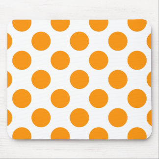 Polka Dots Orange Mouse Pad