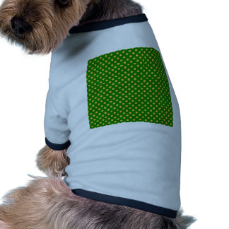 Polka Dots - Orange on Green Pet T Shirt
