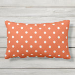 "Polka Dots Orange White Retro Spots Lumbar Pillow<br><div class=""desc"">Beautiful orange and white polka dots,  retro spots lumbar cushion,  lumbar pillow ideal for the garden,  beach home,  patio,  conservatory or taking on picnics.</div>"