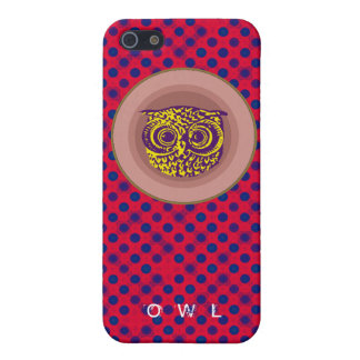 polka dots ~ owls iPhone SE/5/5s cover