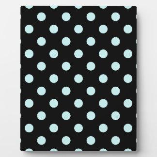 Polka Dots - Pale Blue on Black Plaque