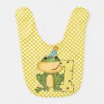 Polka Dots Party Frog 1st Birthday Bib