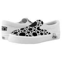 Polka Dots pattern black   your backgr. & ideas Slip-On Sneakers