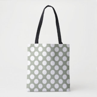 Polka Dots Pattern front white / back black Tote Bag