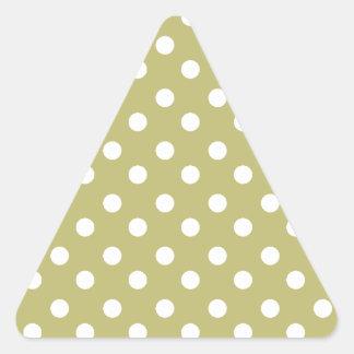 Polka Dots Pattern Gifts Triangle Sticker