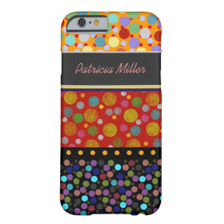 polka-dots pattern personalized barely there iPhone 6 case