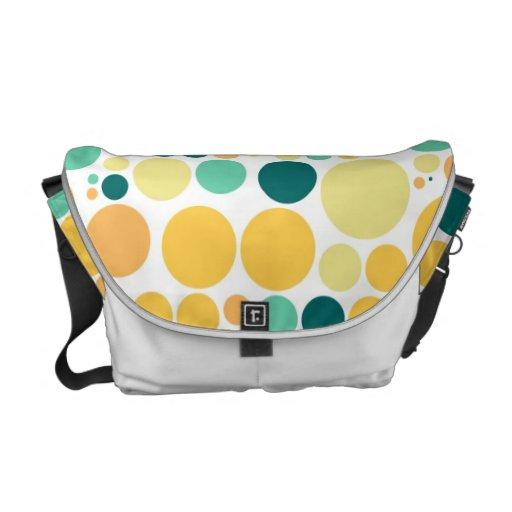 Polka dots pattern | Retro Orange Blue Courier Bags