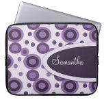 Polka Dots Personalized Laptop Sleeve:Lavender Laptop Computer Sleeves