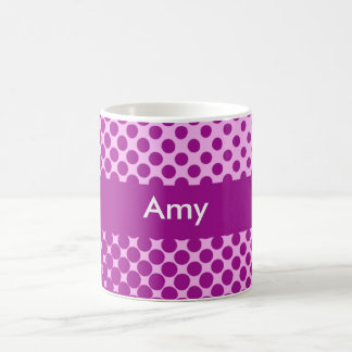 Polka Dots Personalized Name Mug