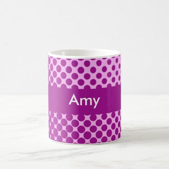 Polka Dots Personalized Name Mug