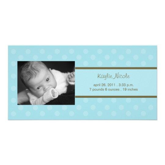 Polka Dots Photo Card Birth Announcement