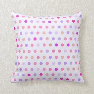 Polka Dots - Pink & Coral Throw Pillow